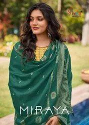 Shree Fabs Miraya Jam Cotton Print With Embroidery Dress Material Catalog