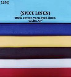 Kamlesh Textiles Spice Linen 100% Cotton Yarn Dyed Linen Shirting Fabric