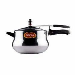 Silver DIVYA Aluminium Handi Pressure Cooker For Home