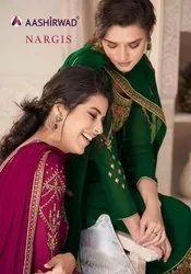 Aashirwad Creation Nargis Georgette Designer Salwar Suit Catalog