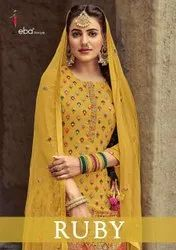 EBA Lifestyle Ruby Fancy With Embroidery Work Designer Suit Catalog