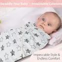 Baby Swaddler Combo Made in Soft Muslin Fabric (Pack Of Two)