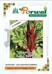 HYBRID RED OKRA SEED LALI SUPER, For Agriculture