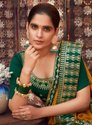 Kalista Fashions Alisha Vichitra Silk Designer Bordered Saree Catalog