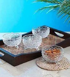 180 ml Glass Desert Bowl Set of 6, Size: Medium