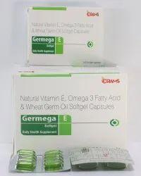 Natural Vitamin E, Omega 3, Fatty Acid Softgel Capsules