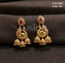 Fusion Arts Traditional Handmade Jhumka Earrings