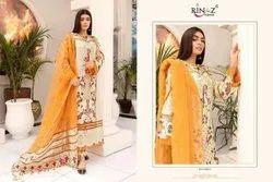 Embroidered Ladies Cotton Cambric Pakistani Designer Salwar Suit