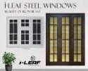 Modern Polished Ileaf Steel Windows, For Home