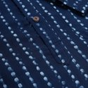 Janasya Men's Blue Cotton Kurta( Men5023)