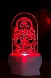 SHAYONA Loard Ganesh Color 3D Illusion LED Acrylic Night Lamp