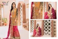 Rinaz- Emaan Adeel Ladies Georgette Pakistani Lawn Suit Material