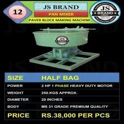 Single Phase Pan Mixer Paver Block Making Machine