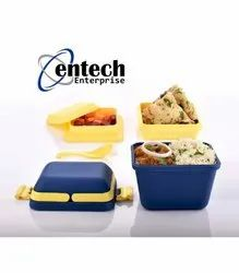Entech Plastic Lunch Box 3 in 1, For Office, Capacity: 700 ml