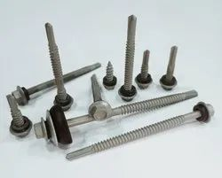 Polished Xylan coated Hex head self drilling screw, For Industrial