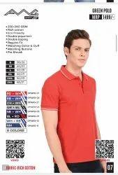 Coller Cotton Green Polo Collar T.shirt