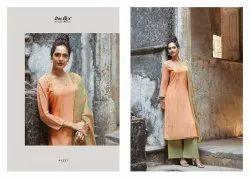 Embroidered Silk Designer Palazzo Ladies Salwar Kameez Suit