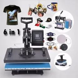 Check 99 Sublimation Polished 6 In 1 T Shirt Printing Machine, Capacity: 300