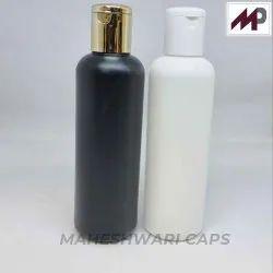 200 ML Black and white HDPE Round Bottle
