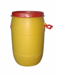 Yellow HDPE Plastic Open Top Drum, For Chemical Storage, Capacity: 0 to 50 Litres