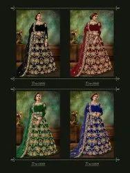 ANK Enterprise Gorgeous Party & Wedding Wear Floor Length Anarkali Gown Suit