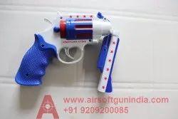 Rubber Bullet Double Barrel Plastic Revolver Toy
