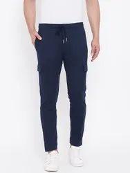 Harbor N Bay Men Navy Blue Solid Straight- Fit Track Pants