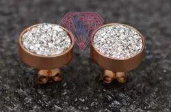 925 Sterling Silver Round Shape Stud Earring Set