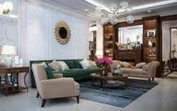 Living Room Interior Residential Villas, Work Provided: False Ceiling/POP