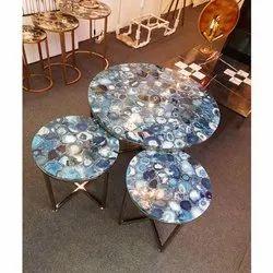 Polished Bansal Handicrafts Blue Agate, For Home