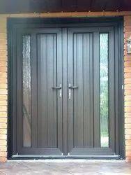 Polished Design PVC Glass Door, For Home, Exterior