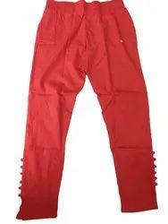 Red Ladies Cigarette Pants