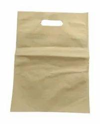 Plain Off White D Cut Non Woven Bag, For Shopping