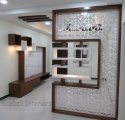 Polished Designer White Corian Jali, 2D Engraving, Size/Dimension: 30