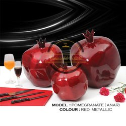 Aluminium Red Decorative Showpiece