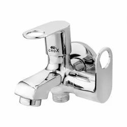 Wall Mounted Crox Brass 2 Way Bib Cock Tap, For Bathroom Fittings, Size: 15 Mm (hole Diameter)