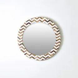 White Modern Bone Mirror Frame, Size/Dimension: 24