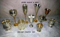 Silver Plated Wine Glass