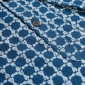 Janasya Men's Blue Cotton Kurta (MEN5001)