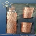 Copper Bottle with 2 Glasses (900 ML Bottle + 2 Glass 275 ML) (Hammered)
