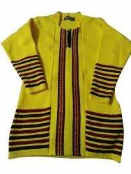 Casual Wear Straight Ladies Woolen Kurti, Size: Small