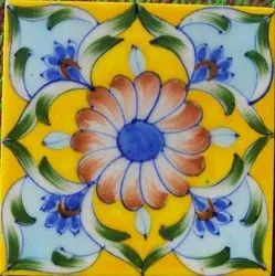 Same As Picture Indian Blue Pottery Tile, For Home, Thickness: 6 - 8 mm