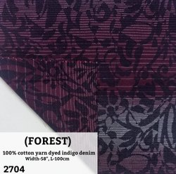 Forest 100% Cotton Yarn Dyed Indigo Denim Shirting Fabric