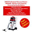 Industrial Vacuum Cleaner With 2 Stage Double Italian Motor