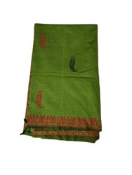 Casual Wear Printed Ladies Poly Cotton Sarees, 6 m