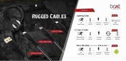 Boat Rugged Micro USB Cable
