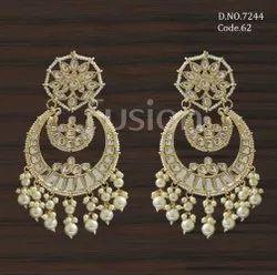 Fusion Arts Indo Western Chandbali Earrings