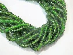 Chrome Diopside Tourmaline Faceted Rondelle Stone Bead Strands