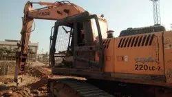 Hyundai Excavator 220 On Rent Hire