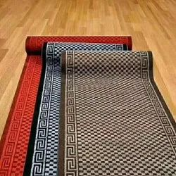 Brown, Black And Red Printed Non Woven Door Carpets, Thickness: 10 Mm